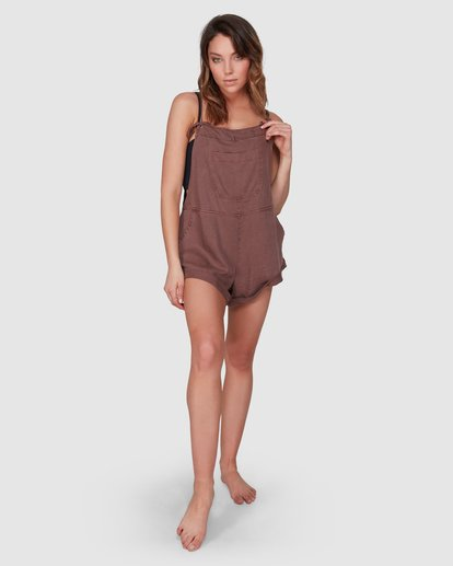 6 Wild Pursuit Jumpsuit Brown 6572501 Billabong