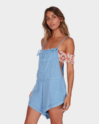 1 Wild Pursuit Overalls Blue 6572501 Billabong