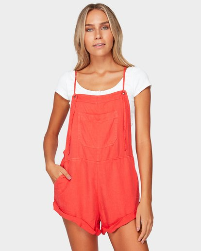 0 Wild Pursuit Jumpsuit Red 6572501 Billabong