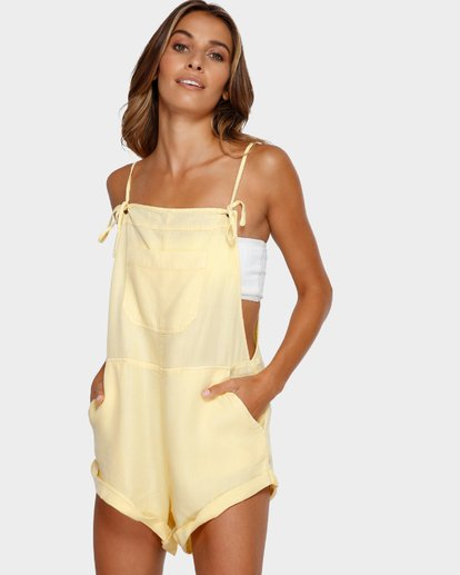 2 WILD PURSUIT OVERALLS Yellow 6572501X Billabong