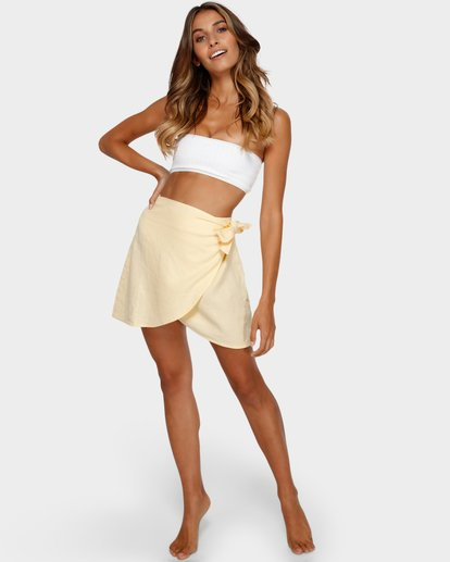 6 SUN FADER WRAP SKIRT Yellow 6572523X Billabong