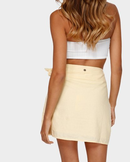 3 SUN FADER WRAP SKIRT Yellow 6572523X Billabong