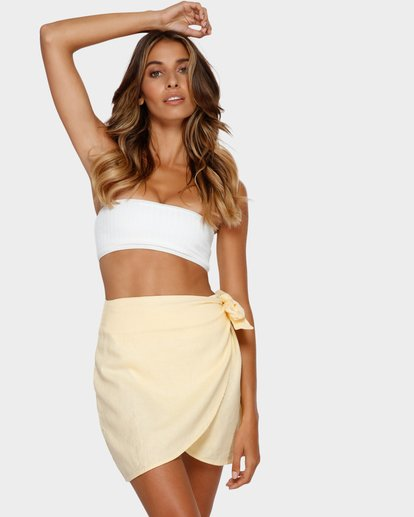 1 SUN FADER WRAP SKIRT Yellow 6572523X Billabong