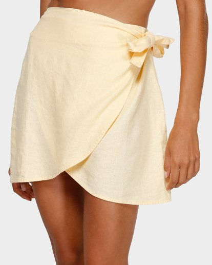 4 SUN FADER WRAP SKIRT Yellow 6572523X Billabong