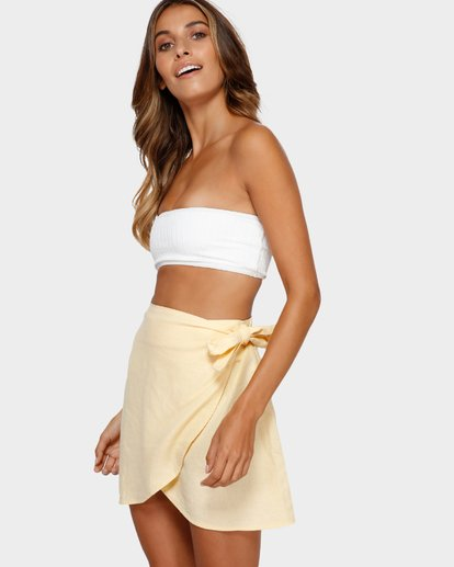 2 SUN FADER WRAP SKIRT Yellow 6572523X Billabong