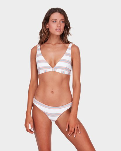 0 SWELLS UP STRIPE D/DD ELONGATED BIKINI TOP  6572636 Billabong