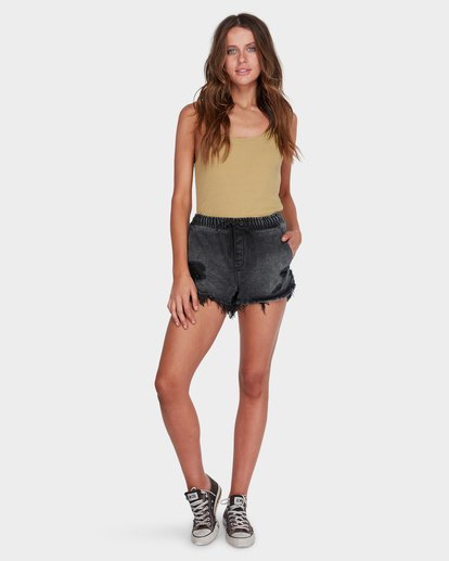 5 DRIFTERS FRAYED SHORT Black 6575277 Billabong