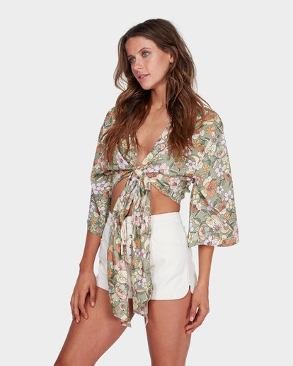 1 CARAVAN TIE TOP Green 6581096 Billabong