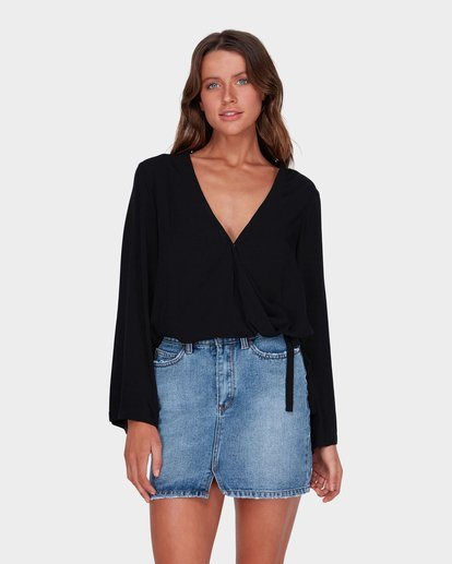 0 ANOTHER DAY LONG SLEEVE TOP Black 6581100 Billabong