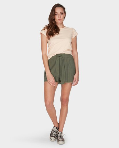3 WHAT MIGHT BE TEE Beige 6581144 Billabong