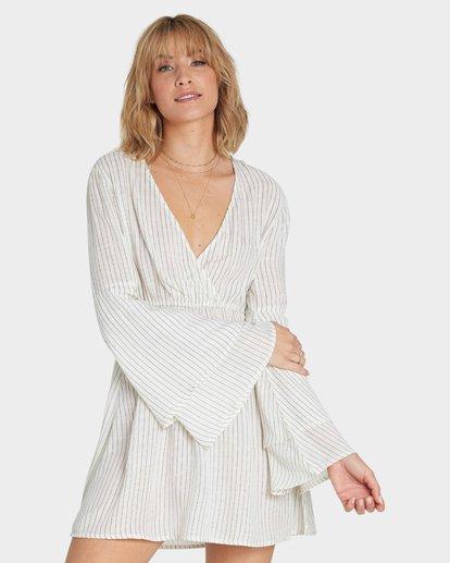 0 NIGHT FEVER LONG SLEEVE DRESS Yellow 6581492X Billabong