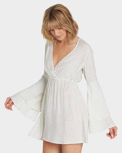 1 NIGHT FEVER LONG SLEEVE DRESS Yellow 6581492X Billabong