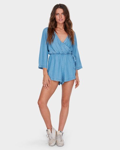 3 FAIRFAX PLAYSUIT Blue 6581503 Billabong