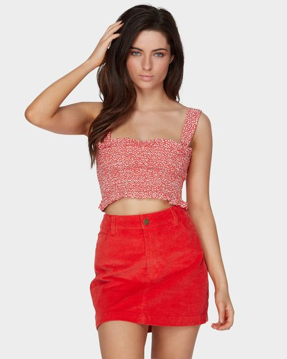 0 FIESTA CORD SKIRT Red 6581529M Billabong