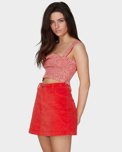 1 FIESTA CORD SKIRT Red 6581529M Billabong