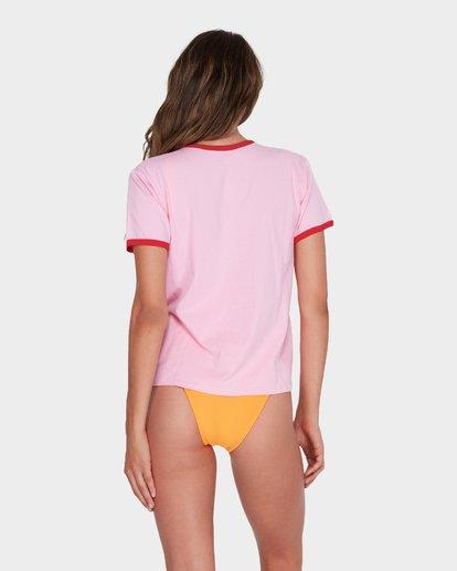 2 CRAY CRAY RINGER TEE Pink 6582009 Billabong