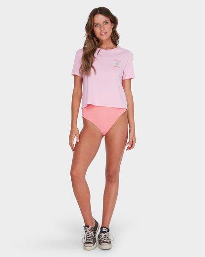 3 TIME TO SURF CROP TOP Pink 6582011 Billabong