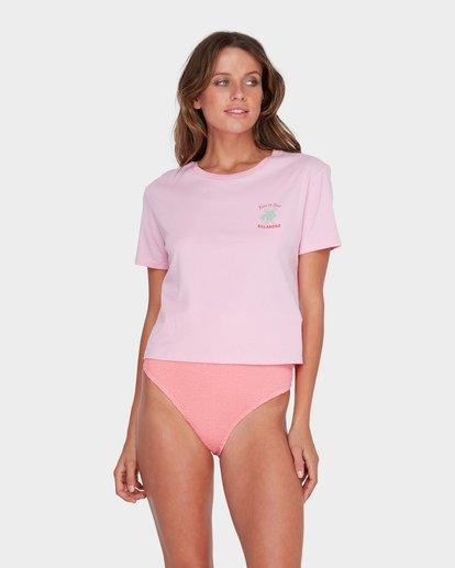 0 TIME TO SURF CROP TOP Pink 6582011 Billabong