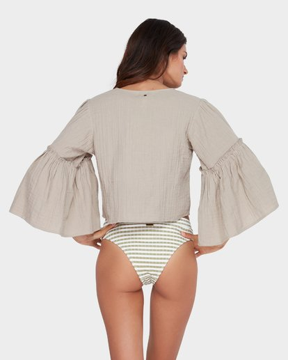 2 ISLAND FOLK TOP Brown 6582097 Billabong