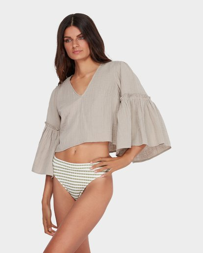1 ISLAND FOLK TOP Brown 6582097 Billabong