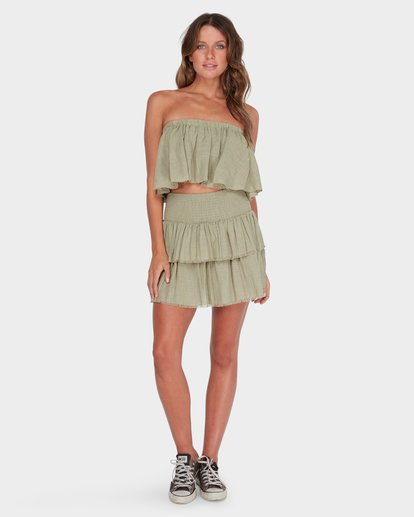 3 CAPRI FRILL TOP Green 6582104 Billabong
