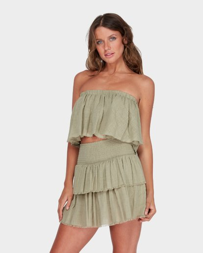 1 CAPRI FRILL TOP Green 6582104 Billabong