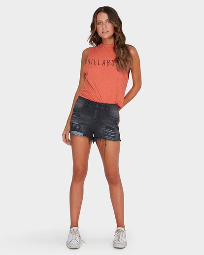 3 CHEVY CROP MUSCLE Red 6582189 Billabong