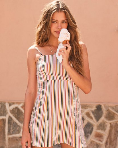 0 PRESTO STRIPE DRESS Beige 6582489 Billabong