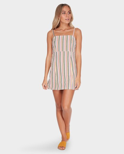 4 PRESTO STRIPE DRESS Beige 6582489 Billabong