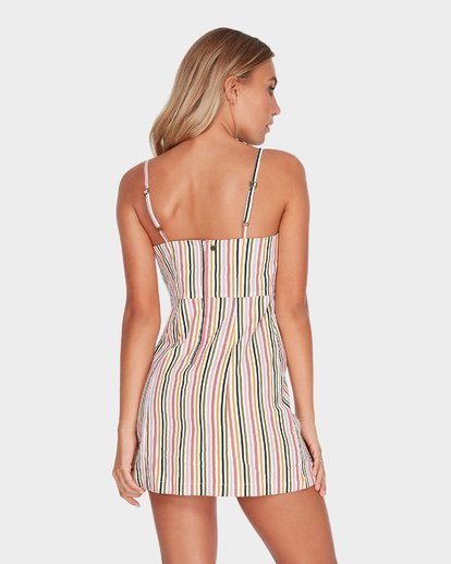 3 PRESTO STRIPE DRESS Beige 6582489 Billabong