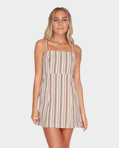 1 PRESTO STRIPE DRESS Beige 6582489 Billabong