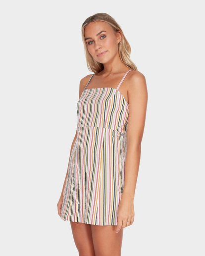 2 PRESTO STRIPE DRESS Beige 6582489 Billabong