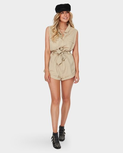 3 THE DESERT ROMPER Beige 6582520 Billabong