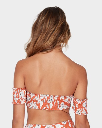 4 FIREFLY OFF SHOULDER BIKINI TOP Red 6582566 Billabong