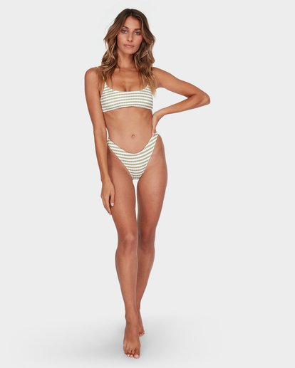 5 SUNS OUT STRIPE HIKE BIKINI BOTTOM Green 6582623 Billabong