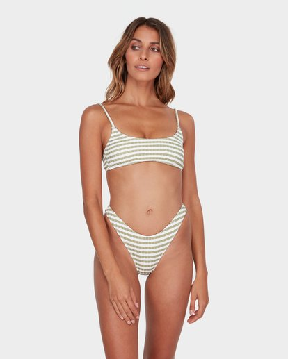 1 SUNS OUT STRIPE HIKE BIKINI BOTTOM Green 6582623 Billabong