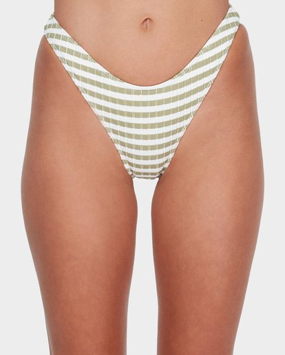 3 SUNS OUT STRIPE HIKE BIKINI BOTTOM Green 6582623 Billabong