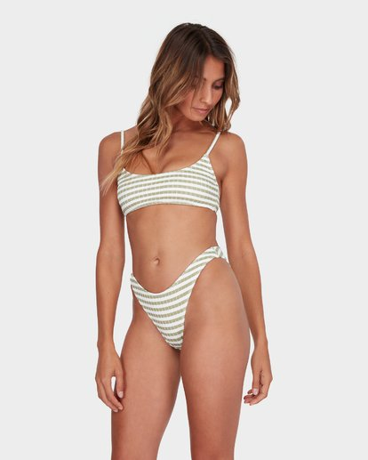 2 SUNS OUT STRIPE HIKE BIKINI BOTTOM Green 6582623 Billabong