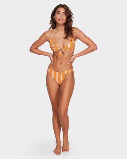 7 LOLITA STRIPE BIKINI TOP Yellow 6582777X Billabong