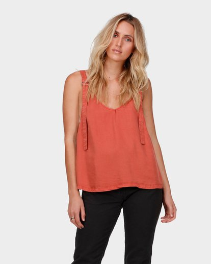 0 SALTY VIBES TOP Red 6585095 Billabong