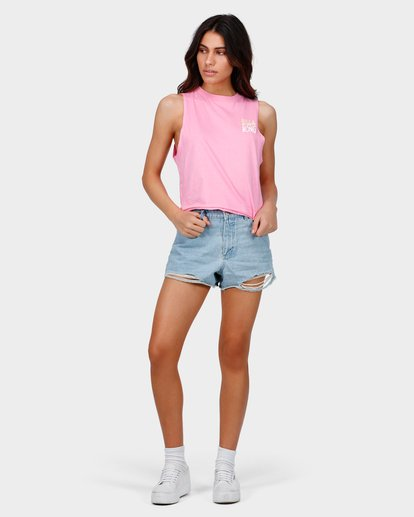 3 TRUST ME CROP MUSCLE TOP Pink 6585182 Billabong