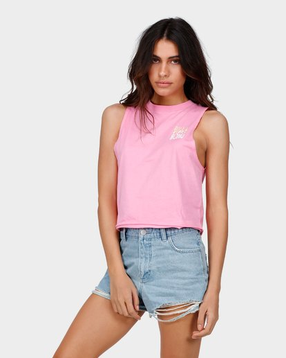 1 TRUST ME CROP MUSCLE TOP Pink 6585182 Billabong