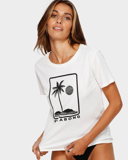 1 HERE TO STAY TEE White 6591008 Billabong