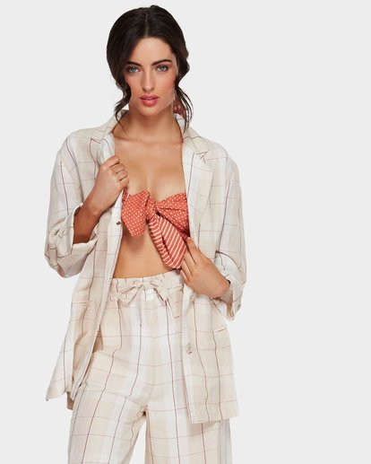 0 Safari Check Shirt Beige 6591093 Billabong