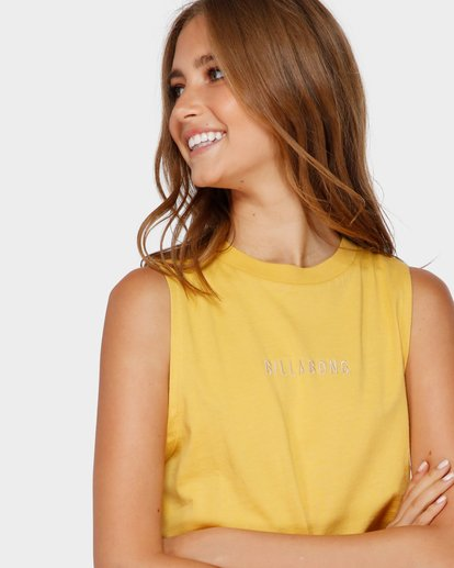 1 CHANGES CROP MUSCLE Yellow 6591138 Billabong