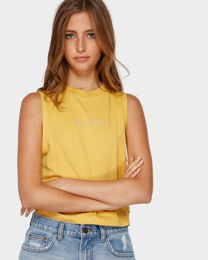 0 CHANGES CROP MUSCLE Yellow 6591138 Billabong