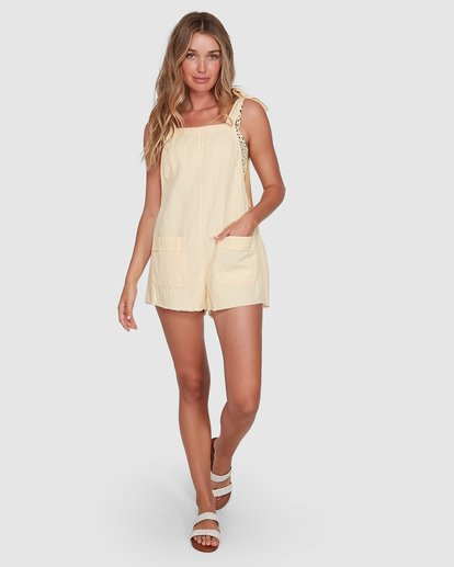 6 Girl On The Run Playsuit Yellow 6591153 Billabong