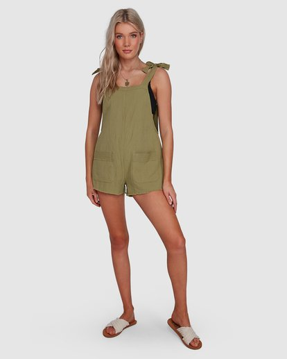 6 Girl On The Run Playsuit Green 6591153 Billabong