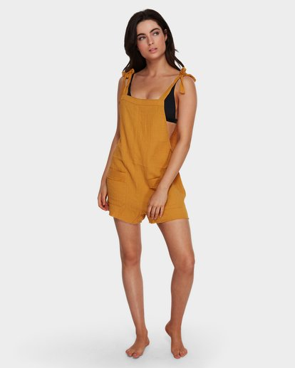 4 GIRL ON THE RUN PLAYSUIT Yellow 6591153 Billabong