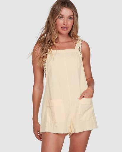 0 Girl On The Run Playsuit Yellow 6591153 Billabong